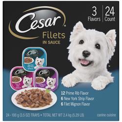 Cesar Gourmet Filets Multi-Pack 1ea/3.5 oz, 24 pk