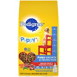 Pedigree Steak and Vegetables Dry Puppy Dog Food 1ea/3.5 lb