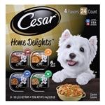 CESAR Filets in Gravy Prime Rib Flavor Wet Dog Food 24ea/3.5oz