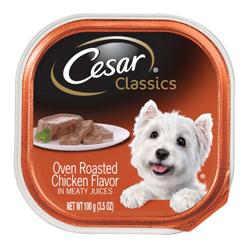 CESAR Classic Oven Roasted Chicken Flavor in Sauce Wet Dog Food 24ea/3.5oz