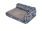 LA Z BOY Sadie Sofa Bed Cobalt Blue Jacquard 1ea/38 In X 29 in