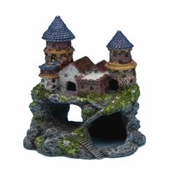 Penn-Plax Enchanted Castle Aquarium Ornament Multi-Color 1ea/5 in, Small