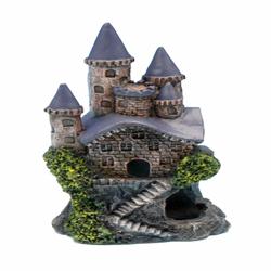 Penn-Plax Magic Castle Aquarium Ornament Brown, Grey 1ea/4 in, Mini