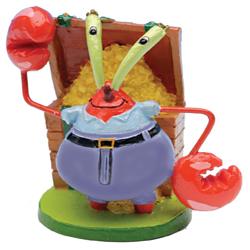 SpongeBob Mr. Krabs Aquarium Ornament Multi-Color 1ea/2 in, Mini
