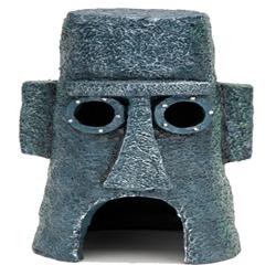SpongeBob Squidward Island Aquarium Statue Easter Island Home Grey 1ea/6 in
