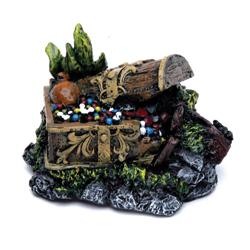 Penn-Plax Treasure Chest Aquarium Ornament Multi-Color 1ea/3 in, Mini