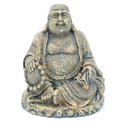 Penn-Plax Sitting Buddha Aquarium Statue Grey 1ea/2 in, Mini