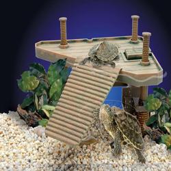Penn-Plax Bask Platforangem Turtle Pier Brown 1ea/Medium