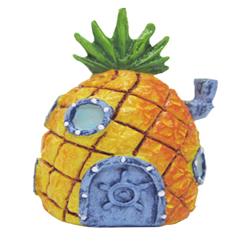 SpongeBob Pineapple Home Aquarium Ornament Orange, Grey, Green 1ea/2 in, Mini