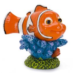 Disney Nemo On Coral Aquarium Statue Blue, Green, Orange 1ea/Mini