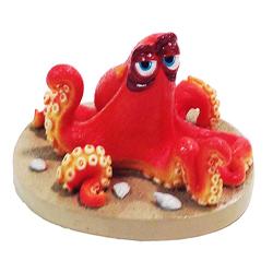 Disney Finding Dory Hank the Octopus on the Sand Statue Hank on Sand Beige, Orange 1ea/Small