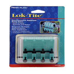 Penn-Plax Plastic Valve for Aquarium Pumps 4-Gang Green, Black 1ea