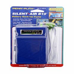 Penn-Plax Silent Air B10 Battery Aquarium Air Pump Blue 1ea