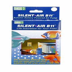 Penn-Plax Silent Air B11 Battery Aquarium Air Pump Blue 1ea
