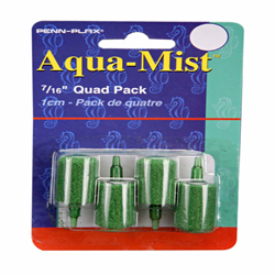 Penn-Plax Aqua-Mist Air Stone Cylinder Green 12ea/0.44 in, 4 pk