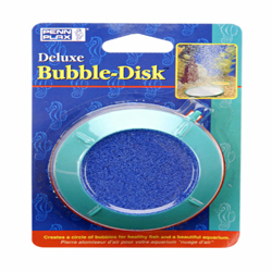 Penn-Plax Deluxe Bubble-Disk Air Stone Green, Blue 1ea/3 in, Small
