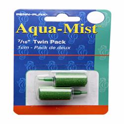 Penn-Plax Aqua-Mist Air Stone Cylinder Green 12ea/0.44 in, 2 pk