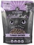 Vital Essentials Vital Cat Freeze-Dried Turkey Mini Nibs Entr?e  12oz