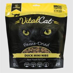 Vital Essentials Vital Cat Freeze-Dried Duck Mini Nibs Entr?e  12oz