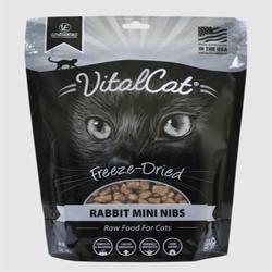 Vital Essentials Vital Cat Freeze-Dried Rabbit Mini Nibs Entre 12oz