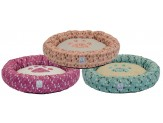 Dallas Maunufacturing Round Pet Bed With Paw Applique 23In