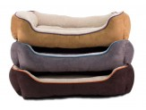 Dallas Manufacturing Large Faux Suede Box Bed 36In