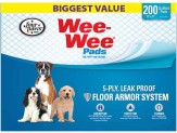 Four Paws Wee Wee Absorbent Pads for Dogs 200 Count 1ea/Standard 22 in X 23 in