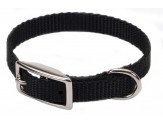 Coastal Single-Ply Nylon Collar Black 3/8X10in