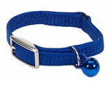 Coastal Sassy Snag-Proof Nylon Safety Cat Collar Blue 3/8X8In