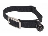Coastal Sassy Snag-Proof Nylon Safety Cat Collar Black 3/8X10In