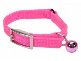 Coastal Sassy Snag-Proof Nylon Safety Cat Collar Neon Pink 3/8X10In