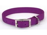 Coastal Double-Ply Nylon Collar Purple 1X18in