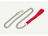Titan Chain Dog Leash with Nylon Handle Red 1ea/3 Mm X 4 ft