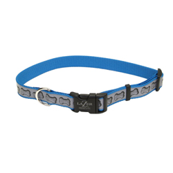 Lazer Brite Reflective Adjustable Dog Collar Turquoise 1ea/1 In X 18-26 in