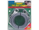 Coastal Titan Giant Cable Tie Out With Nickel Plated Snaps Silver 20Ft