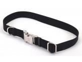Coastal Adjustable Nylon Collar with Titan Metal Buckle Black 3/4X14-20in