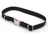 Coastal Adjustable Nylon Collar with Titan Metal Buckle Black 1X18-26in