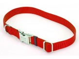 Coastal Adjustable Nylon Collar with Titan Metal Buckle Red 1X18-26in
