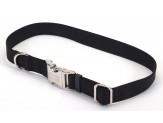 Coastal Adjustable Nylon Collar with Titan Metal Buckle Black 1X14-20in