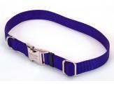 Coastal Adjustable Nylon Collar with Titan Metal Buckle Blue1X14-20in