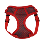 Coastal Pet Comfort Soft Sport Wrap Harness 3/8 Extra Small Grey & Red