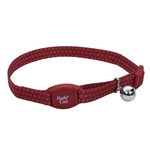 Coastal Safe Cat Adjustable Breakaway Garnet Polka Dot