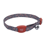 Coastal Safe Cat Adjustable Breakaway Salmon Heart Charcoal