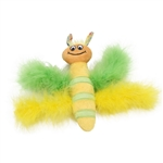Coastal Lil Pals Kicker Kitten Toys- Feather Bee