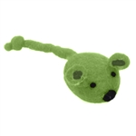 "Coastal Pet Products Rascals  Handcrafted Wool 5"" Green Mouse"