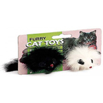 Ethical Products Spot Twin Plush Mice Rattle & Catnip Cat Toy 2pk