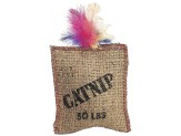 Ethical Products Spot Jute & Feather Sack With Catnip