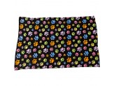 Ethical Snuggler Rainbow Pawprnt Blanket Black 40X58