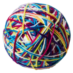 Spot Sew Much Fun Yarn Ball Cat Toy Multi 1ea/3.5 in