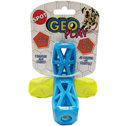 Spot Geo Play Dual Texture Jack Dog Toy Assorted 1ea/5 in